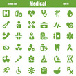 medical icons green