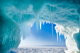 Winter Baikal. Olkhon Island. Icy grotto
