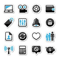 Web internet icons set - vector