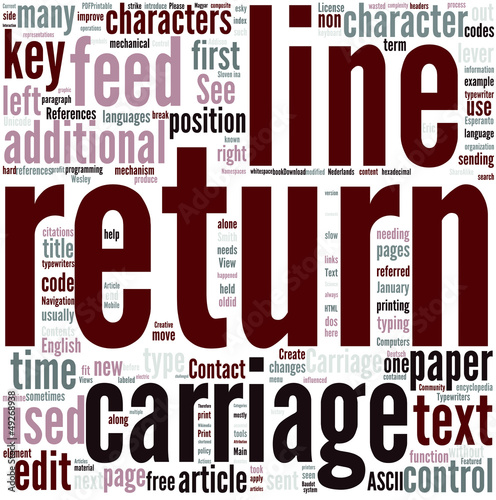 Carriage return Concept