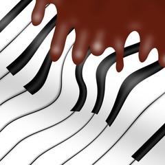 cioccolato su piano