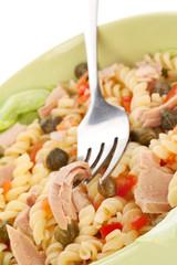 Tuna pasta background.