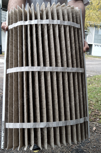 Air duct and furnace heater air filter