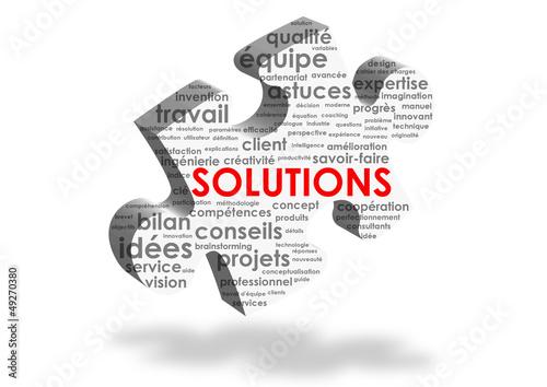 """Nuage de Tags """"SOLUTIONS"""" (idées innovation service client aide)"""