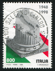 Column and map of Italy