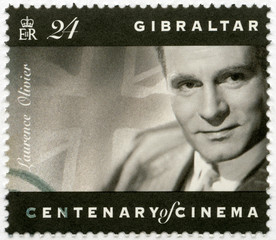 GIBRALTAR - 1995: shows Laurence Olivier (1907-1989), actor