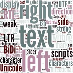 Bi directional text Concept