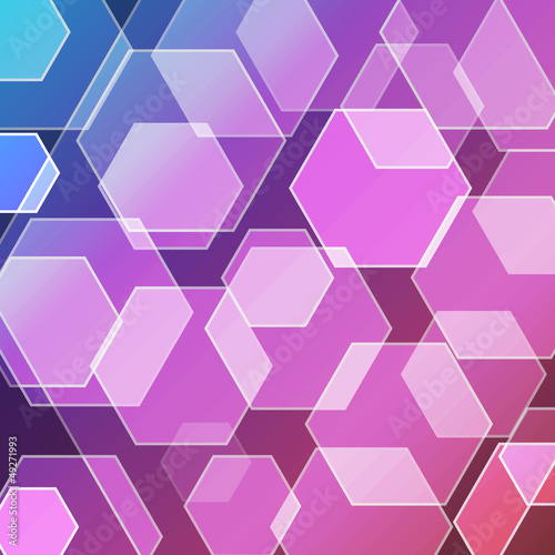 Bokeh blur with hexagons background