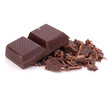 Chopped chocolate  bars
