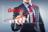 Man with Statistic Growth