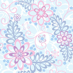 Seamless floral background: Forget-me-not