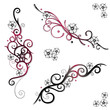 Kirschblüten, cherry blossom, Ranken, Tattoos, Set