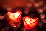 burning candle hearts