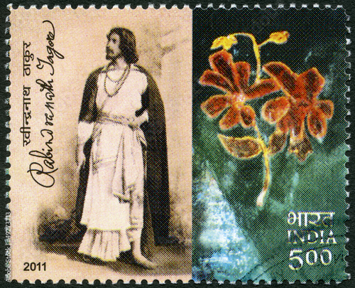 INDIA - 2011: shows Rabindranath Tagore (1861-1941), Indian poet
