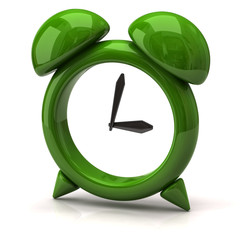 Illustration of green clock