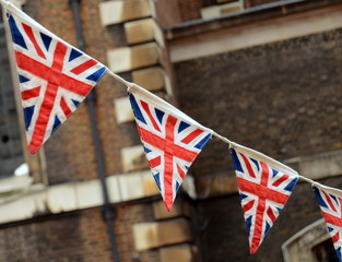 A Patriotic Image Of British Bunting At A National Event