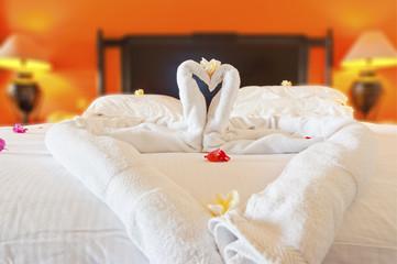 chambre romantique lune de miel, nuit de noces