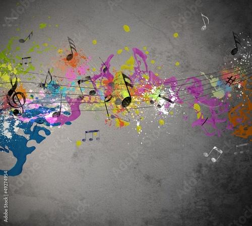 Musical grunge background - 49274954