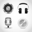 audio tools vector icons