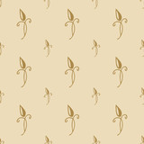 baroque pattern gold