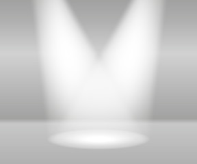 Product Presentation White Lights Abstract Vector