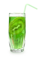 cocktail with kiwi frut