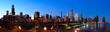 Downtown Chicago panorama at sunset, IL, USA