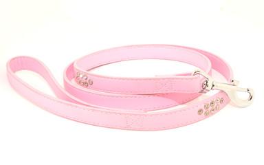 Correa rosa con joyas