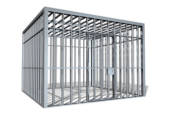 Jail Holding Cell Isolated Perspective