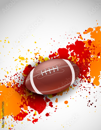 Grunge background with ball