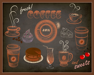 Blackboard Ads - Coffee and Sweets