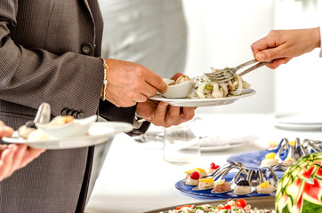 Serving tasteful food, catering