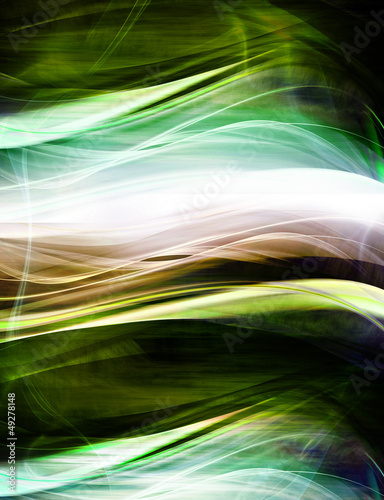 Amazing abstract green waves
