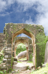 Ruins of Archway in Madan Mahal fort