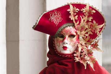 Venezianische Maske rot