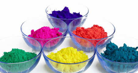 Attractive colors of gulal