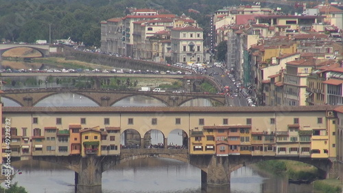 Old Bridge in  Florence city, Italy