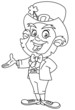 Outline leprechaun