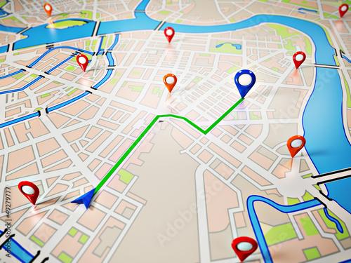 Leinwandbild Motiv Navigation