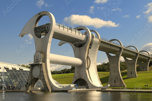 Tuinposter Kanaal The Falkirk Wheel, Scotland.