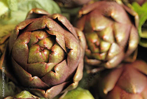 artichoke closeup on italian market