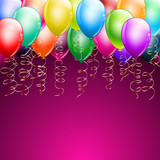 colorful balloons as top border