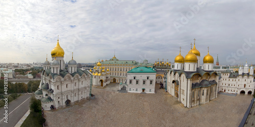 Panorama Ivan square of the Kremlin. Russia