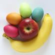 Ostereier mit Banane und Apfel sind Gesund