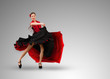 Smiling flamenco dancer