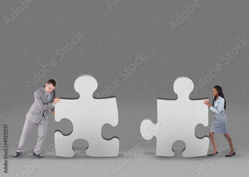 Business people problem solving