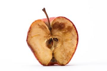 Half a rotten apple