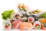 Fototapete Japanese - Asiatische spezialitäten - Fische