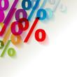 % Prozent Bunt Transparent Ecke Hintrergrund