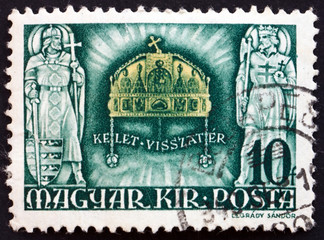Postage stamp Hungary 1940 Crown of St. Stephen
